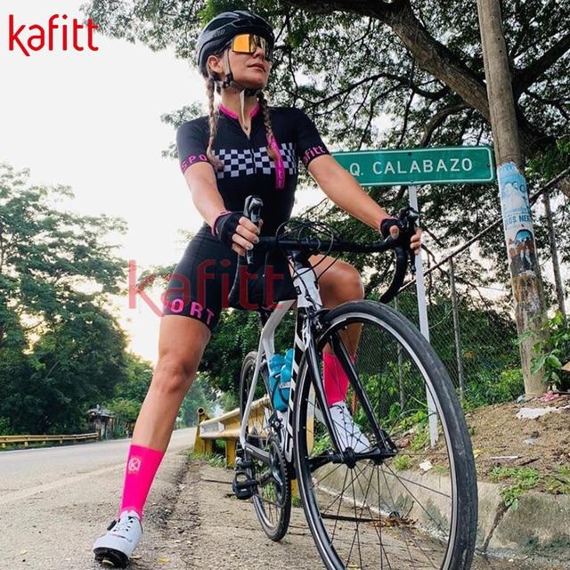 Kafitt verão novo de manga curta ciclismo wear terno macacão feminino triathlon ciclismo wear mountain bike macaquinho 2