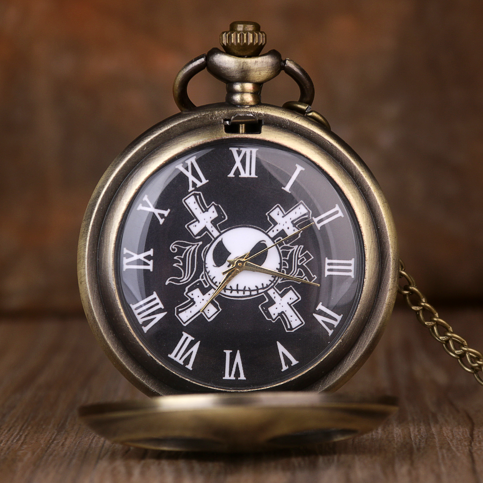 Movie Theme Pocket Watch For Men The Nightmare Before Quartz Pocket Watches  Mens With Chain Mens Fob Watch: Buy Online at Best Prices in Pakistan |  Daraz.pk