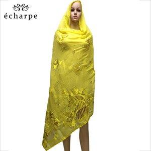 Image 4 - New African Scarf Muslim Hijab Jersey Scarf Soft Headscarf foulard femme musulman Islam Clothing Arab Wrap Head Scarves