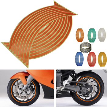16Pcs Universal Waterproof Motorcycle Wheel Rim Reflective Stickers Moto Auto Decal For KTM 525SX sx 65 85 125 150 250 450 525 image