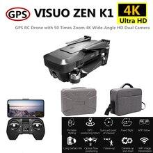 VISUO ZEN K1 5G WIFI FPV RC Drone with 4K Dual Camera 120 Degrees Wide Angle Foldable Quadcopter VS SG106 M69 F11 B4W