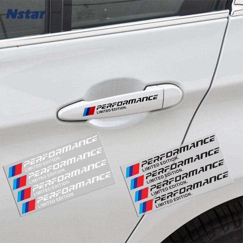 4 шт./лот M производительности Ограниченная серия Наклейка Виниловая пленка для оклеивания автомобилей дверные ручки знак авто часть украшения для BMW X1 X3 X4 X5 X6 X7 E46