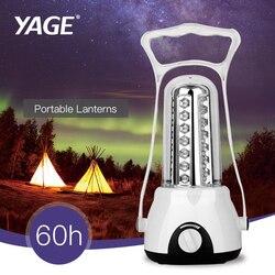 Yage portátil luz levou acampamento luz portátil lanterna dinamo recarregável lanternas de led de carregamento solar portátil/unplugged lâmpada