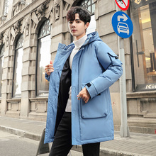 90% white duck down men's down jacket thick hooded thick down jacket men's casual high-quality winter coat parka coat