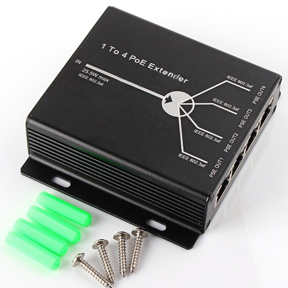 4 porto ieee802.3af poe extensor máximo estender