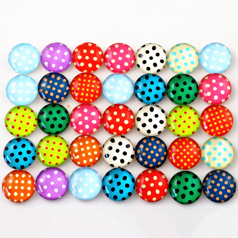 Hot Sale 50pcs 12mm  Mixed Handmade Photo Cute Cool Glass Cabochons (G2-20)