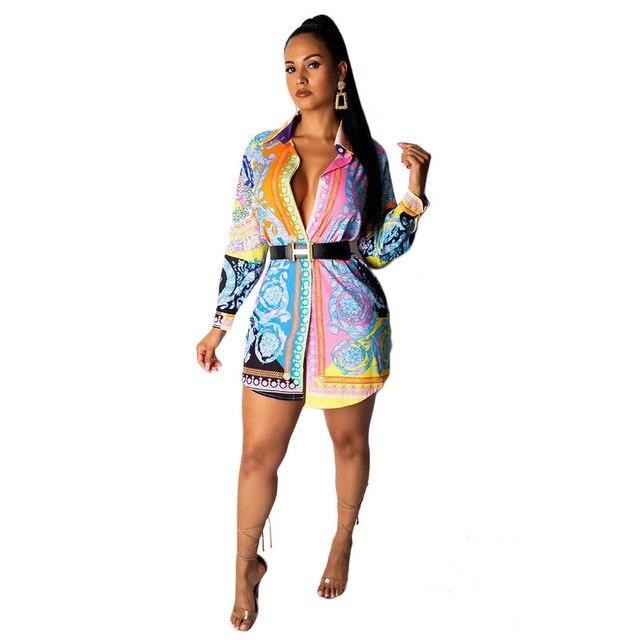 Blouse Women Digital Printed Shirt Fashion Causal Women's Long Sleeve Long Shirt Tops Large Size  S-XXXL 5XL 1