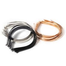 Base de alça de cabeça de 5 peças de aço inoxidável 3 4 5 6 7 mm em branco Configuração de Handicraf para acessórios para fazer joias DIY Headwear atacado