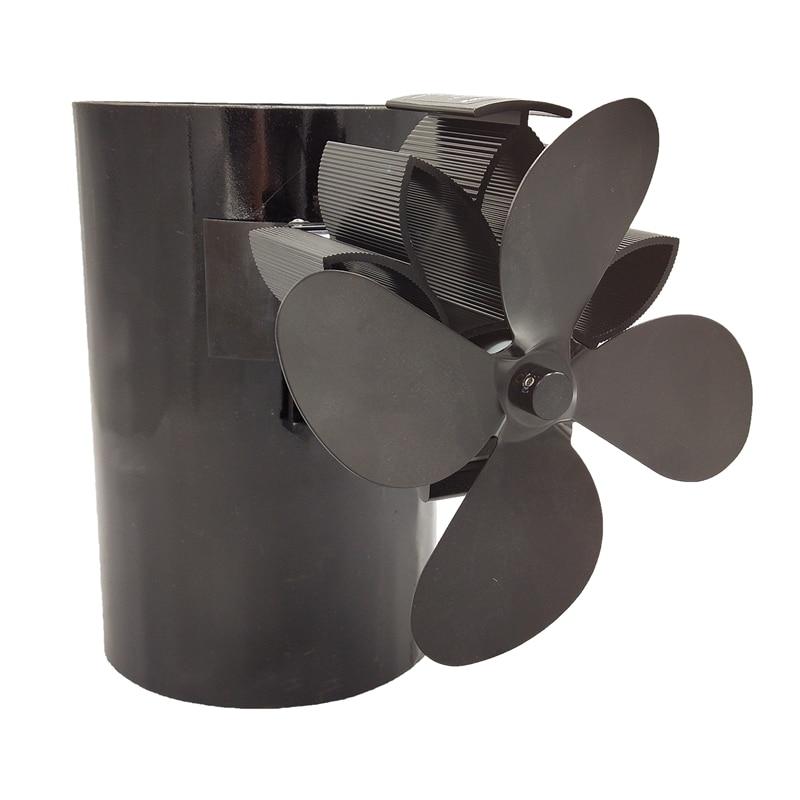 Вентилятор для печи, работающий от тепловой энергии обновления разработан бесшумной работы 4 Лопасти С магнитным притяжением для камина