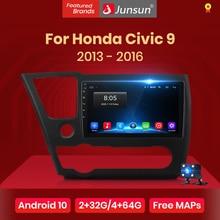 Junsun-راديو السيارة متعدد الوسائط GPS لهوندا سيفيك 9 10.0-2013 ، مشغل فيديو ، DSP ، dvd ، ستيريو ، 2 din ، Android 2016 ، V1