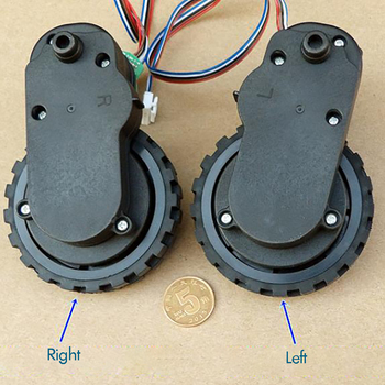 цена на 1 Pair Gear Motor for Sweeping Robot DC 12V 100mA Plastic Gearbox Coded Speed DC Gear Motor Wheels, Left and Right, Ratio 1:63