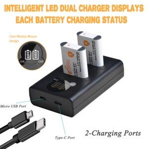 Image 5 - 4 Uds. De batería y NP BX1 NP BX1 de 1600mAh, Cargador USB LED con tipo C para Sony DSC RX1 RX100 M3 M2 RX1R WX300 HX300 HX400 HX50 HX60