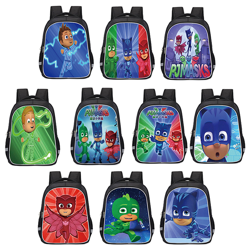 PJ Masks Original School Backpack Male Cartoon Personality Printing Breathable Student Backpacks Children's Gifts 33cm S83