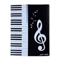 Музыкальная папка для хранения концертов пианино четыре стороны шестистраничный инструмент проигрыватель A4 файл документов Органайзер ли...