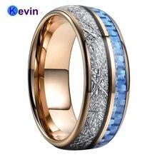 Обручальное кольцо из розового золота вольфрамовые обручальные