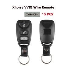 Xhorse xkhy00en vvdi2 com fio chave remota universal 3 botões x007 versão em inglês