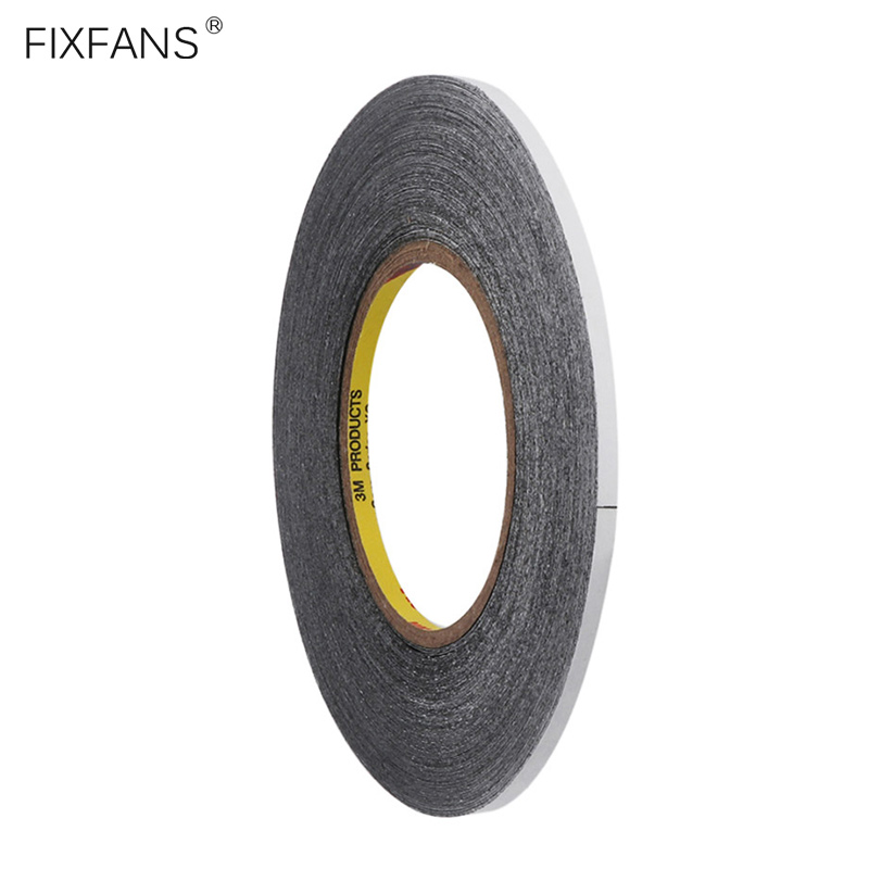 FIXFANS 5mmx50M Black Double Sided Adhesive Glue Tape For IPhone IPad Samsung Cell Phone Tablet LCD Touch Screen Repair Tool