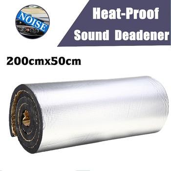 200cmx50cm 5mm-30mm Aluminum Foil Mat Car Hood Engine Firewall Heat Mat Deadener Sound Noise Proof Insulation Deadening