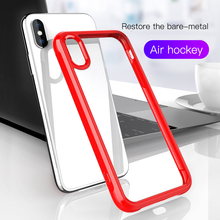 For iPhone 8 Hard PC+ Soft TPU Cover 7 6s Plus X XS Max XR Case Cases Phone Shell Fashion Slim Colorful Frame Clear