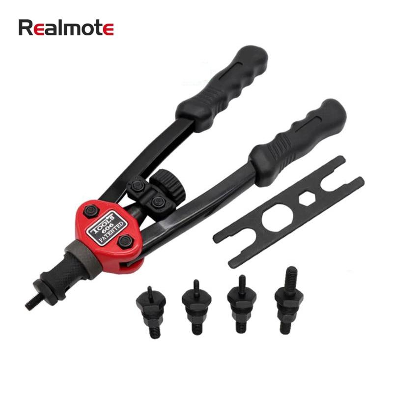 Realmote Rivet Nut Guns Renovation Team Professional Heavy Hand Riveters Tool DIY Home Riveting Adapter
