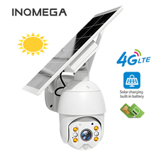 INQMEGA 4G Version 1080P HD Solar Panel Outdoor Surveillance Waterproof CCTV Camera Smart Home Two-way Voice Intrusion Alarm