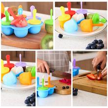 Silicone Mini Ice Pops Mold Ice Cream Ball Lolly Maker Popsicle Molds Baby DIY Food supplement tool Fruit Shake Ice Cream Mold недорого