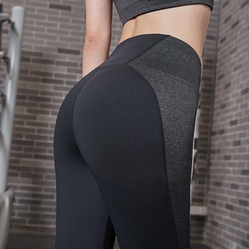 Womens Sport Pants High Waist Yoga Fitness Leggings Running Compression Trousers