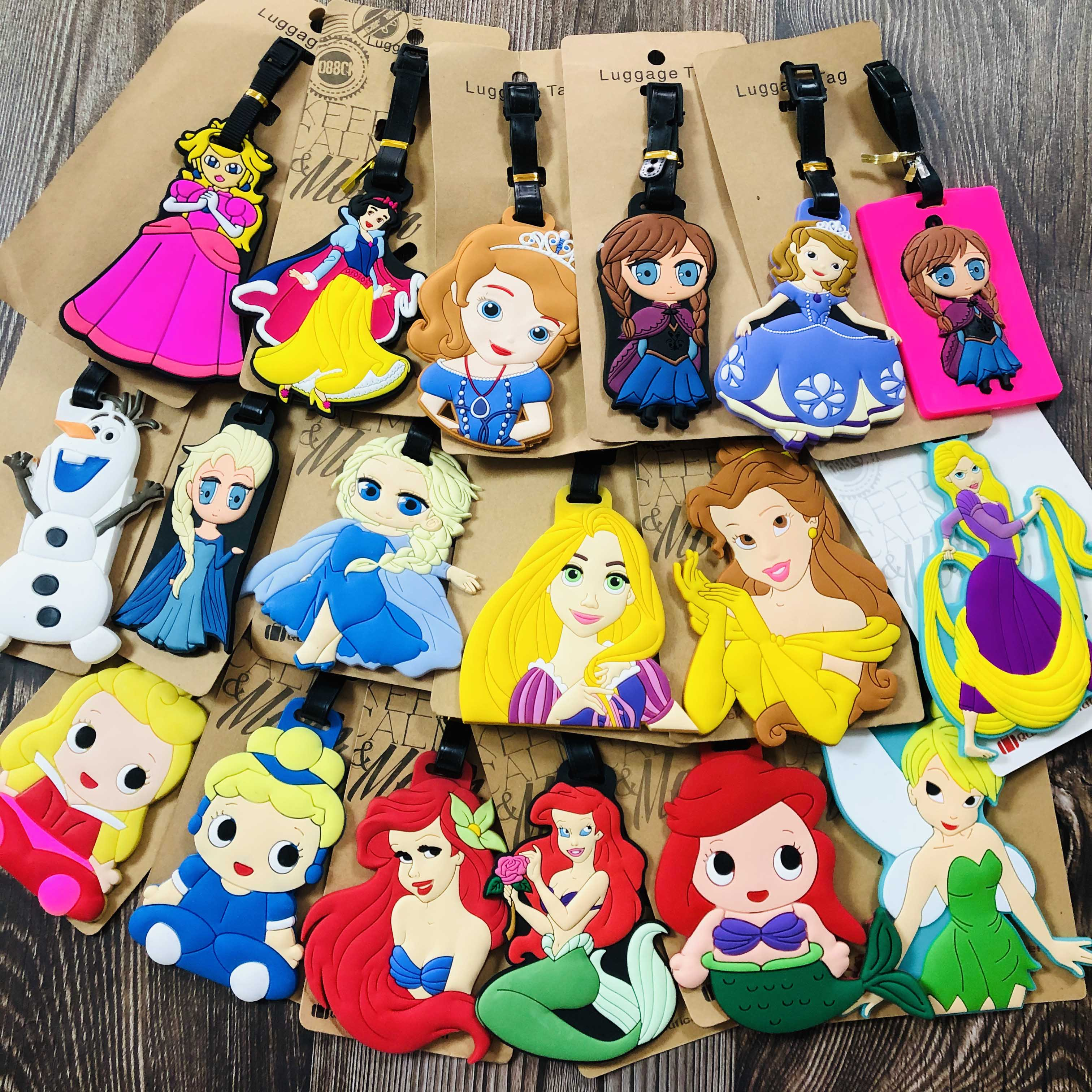 Princess Series Anime Travel Accessories Luggage Tag Suitcase ID Portable Tags Holder Baggage Labels Gifts New