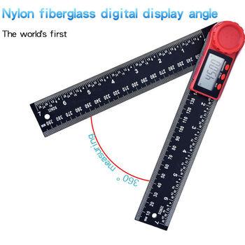 Kątomierz cyfrowy kątomierz linijka 360 stopni wyświetlacz LCD miernik nachylenia narzędzia pomiarowe New Arrival tanie i dobre opinie