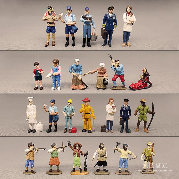 Фигурка городской работы, модель пожарных, капитан Explorer Postman Hunter, фигурки местных женщин, декор игрушек