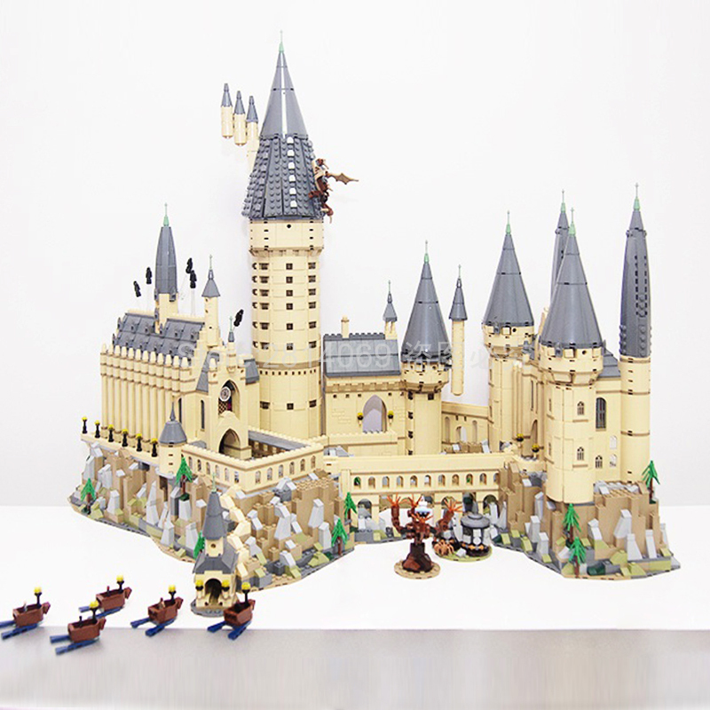 71043 Magic School Castle H Warts Potter Movie Model 6742Pcs Building Block Bricks Toys Compatible 16060 Gift For Children