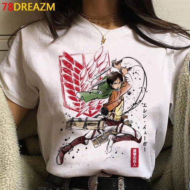 2021 Hot Anime Final Season  Attack on Titan T Shirt Men Kawaii Summer Tops Titans Attack Graphic Tees Levi Harajuku Tshirt Male 2