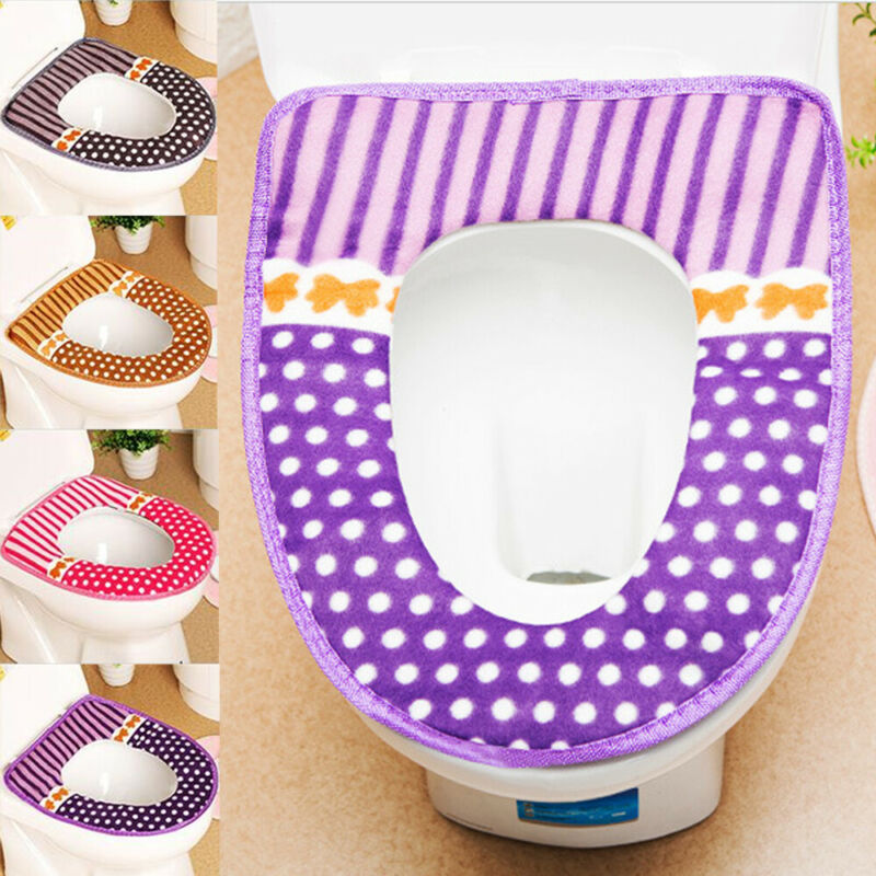 New Bathroom Toilet Seat Closestool Washable Soft Warmer Mat Cover Pad Cushion