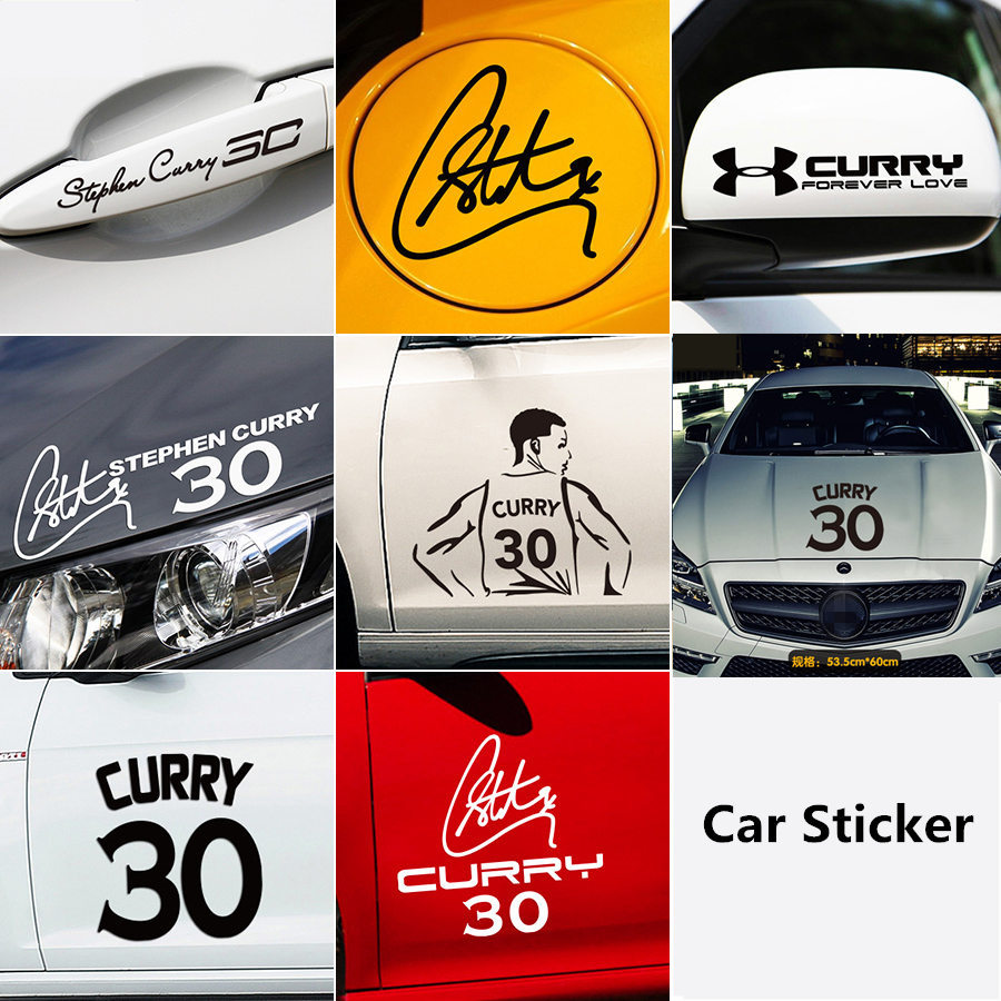 NBA star Stephen Curry car sticker Warrior championship decorative car sticker Curry body door reflective decal image