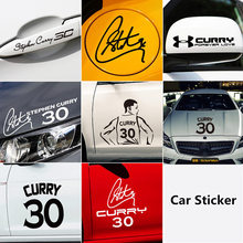 NBA star Stephen Curry car sticker Warrior championship decorative body door reflective decal