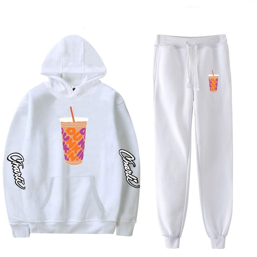 Charli DAmelio Hoodie and Sweatpants Suit Merch Ice Coffee Splatter Hoodies Sweatshirt Sweater Pants for Women Girls