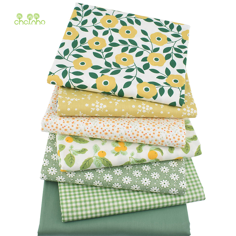 Green Cats Linen Fabric for tablecloth DIY Throw Pillow curtain Apron 50x145cm