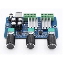 Placa amplificadora de potência, placa de amplificação de áudio estéreo digital canal 12v 20w + 10w + 10w yamaha 2.1 subwoofer amp XH A355 aplificador de áudio