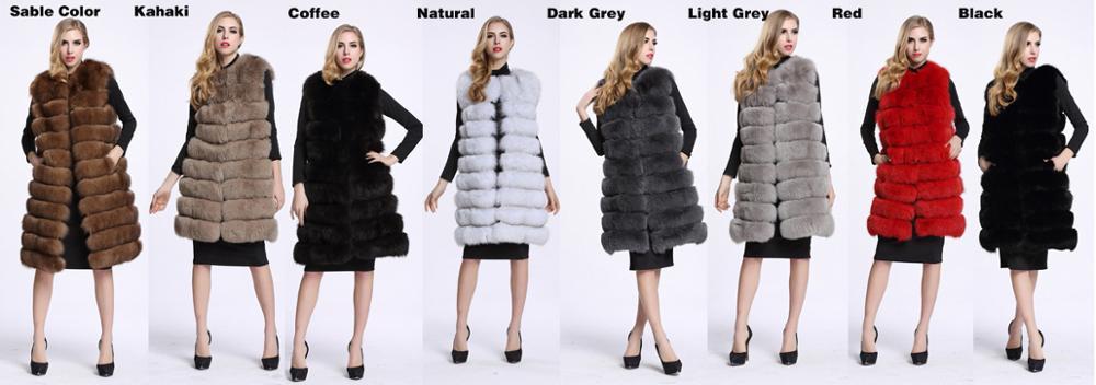 Image 5 - Medium And Long Fashion Fox Fur Vest Womens Winter Fur Coat Vest  Artificial Fur Fuake  Jackets Plus Size Overcoat S 3XLFaux Fur   -