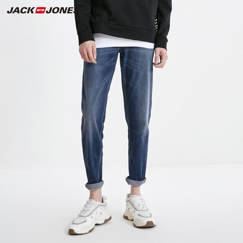 JackJones Men's Casual Ankle-length Slim Fit Tight-leg Crop Jeans Basic| 219132555