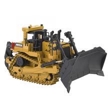 HUINA 1/50 металлический гусеничный бульдозер/вилочный погрузчик Инженерная Строительная модель автомобиля сплав Diecasts гусеничный автомобиль коллекция игрушек