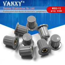 5 pces cinza botão tampa é adequado para alta qualidade WXD3-13-2W-gire ao redor especial potenciômetro botão KYP16-16-4