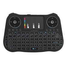 2.4Ghz Wireless Keyboard Touchpad Mouse Handheld Remote Control 4 Colors Backlight Colorful Breathing Lights for Android Tv Box 2 4ghz wireless keyboard touchpad mouse handheld remote control for android tv box smart tv pc notebook