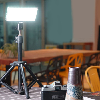 Dimmable LED Video Light 96LEDs Display with Battery On Camera DSLR Photography Lighting Fill Light
