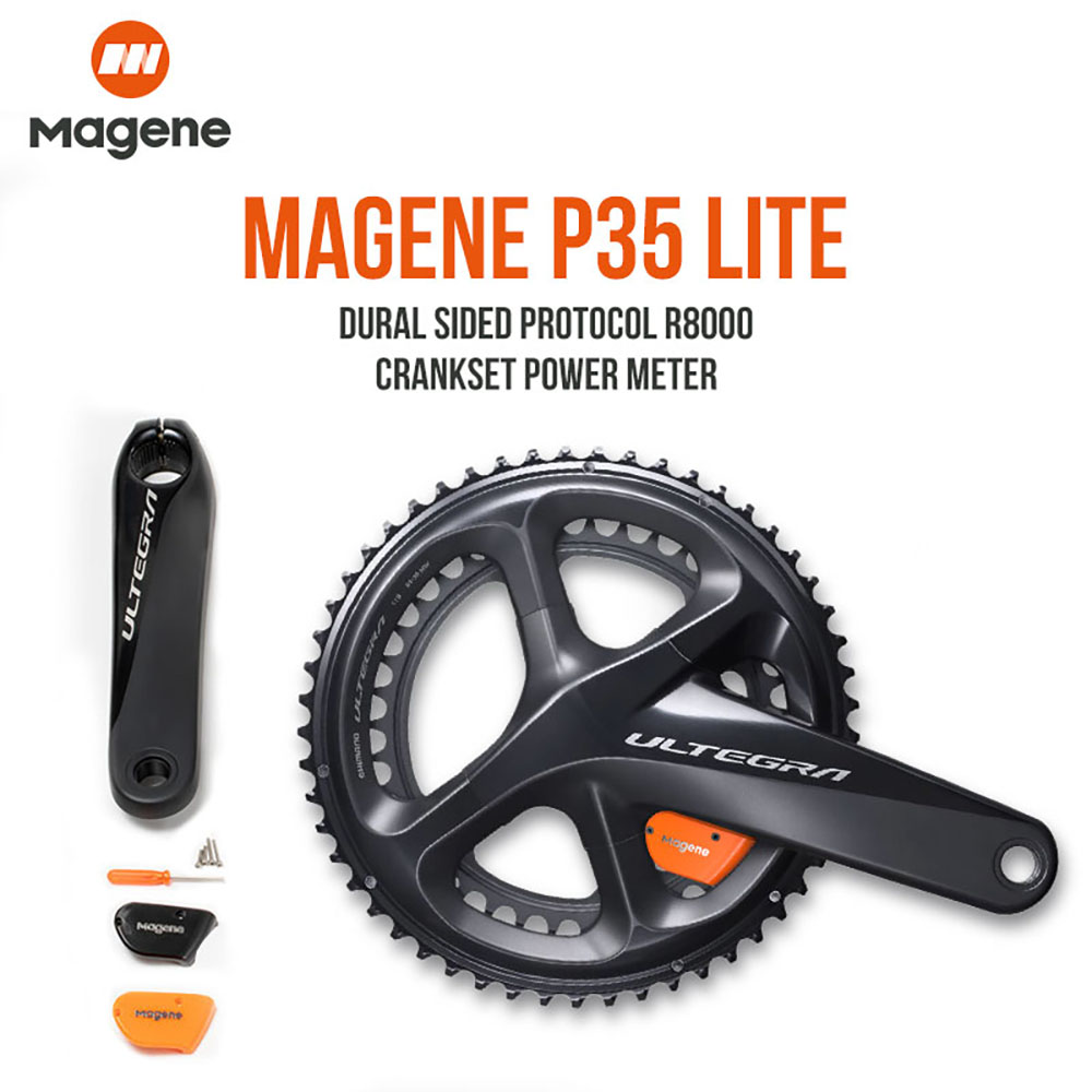 MAGENE Ultegra R8000 Road <font><b>Bike</b></font> <font><b>Power</b></font> <font><b>Meter</b></font> P35 Lite Dual Side Crank Arm <font><b>Power</b></font> <font><b>Meter</b></font> Cycling 170mm 172.5mm 39/53 36/52 34/50 image