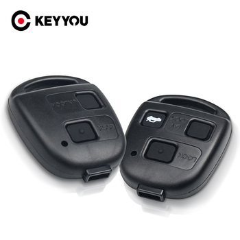 KEYYOU Car Remote 2/3 Buttons Key Shell + Pad For Lexus RX300 ES300 LS400 GX460 For Toyota Corolla Land Cruiser YARIS CAMRY RAV4 image