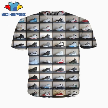Anime 3d print Shoes t shirt Men hip hop rock Women  fashion t-shirt rock kid Harajuku top tees Funny shirts homme tshirt A259