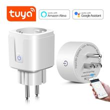 Tuya Smart Socket Smart Life WIFI Plug 16A EU US Adapter Voice Control Smart Home House Outlet For Alexa Echo Google Assistant tanie tanio Smart Plug AC90-265V EU US Alexa Android System 2 4G Amazon Alexa and Google Assistant