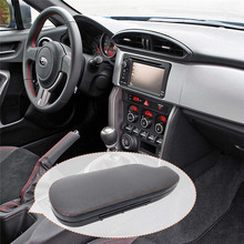 Auto Car Interior Black Armrest Cover for Subaru BRZ Toyta 86 2013-2018 Euro Flip Open Armrest For Scion FRS/Subaru BRZ mewant red genuine leather black suede car steering wheel cover for toyota 86 2012 2015 subaru brz 2012 2015 scion frs