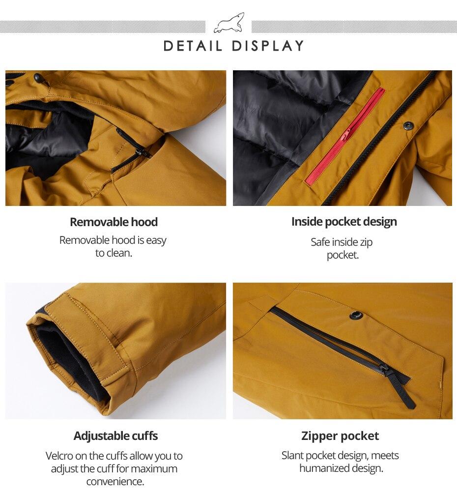 Icebear 2021 casaco de algodão masculino com
